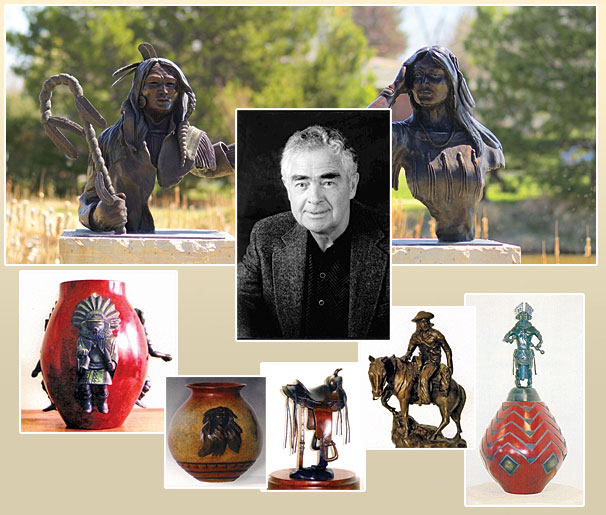 George Walbye and his sculptures